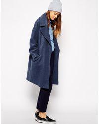 Asos Slouchy Coat In Texture - Lyst