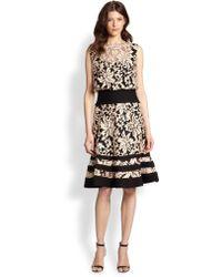 Tadashi Shoji Jersey Lace Dress - Lyst