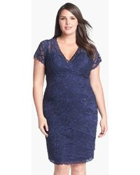 Marina - Tiered Lace Dress - Lyst