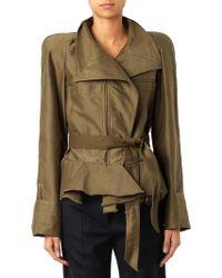 Isabel Marant Janey Cotton Ruffled Jacket - Lyst