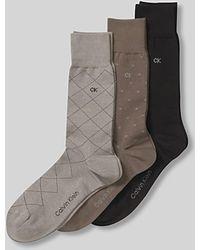 Calvin Klein Men'S Fashion Geometric Sock Three Pack - Lyst