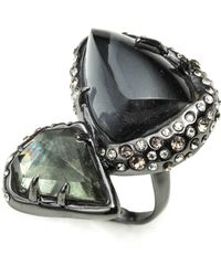 Alexis Bittar Kinetic Ruthenium Stacked Cocktail Ring silver - Lyst