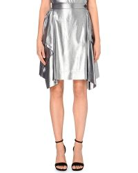 Vivienne Westwood Anglomania Laminated Metallic Skirt - For Women silver - Lyst
