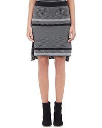 Tess Giberson - Mixed Intarsia-knit Mini Skirt-grey Size S - Lyst