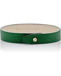 Valextra Leather Bracelet - Green