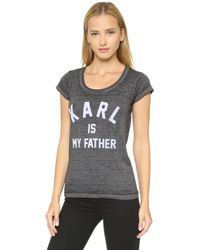 ELEVEN PARIS - Karl Tee - Burn Out Jersey Black - Lyst