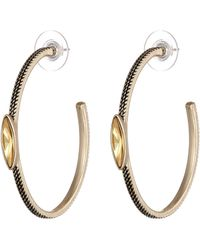 Sam Edelman Girls Club Stone Center Hoop Earrings - Lyst