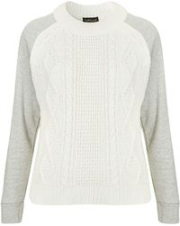 Topshop Jersey Hybrid Cable Jumper - Lyst