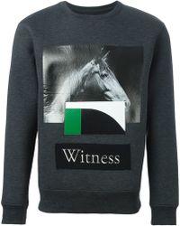 Cy Choi - Patch Printed Sweatshirt - Lyst