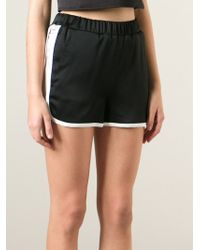 MSGM Contrasting Trim Sport Shorts - Lyst