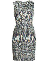 Matthew Williamson Morph Ikat Tailored Mini Dress - Lyst