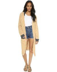 Sea - Hand Knit Worn Sweater Coat - Burgundy - Lyst