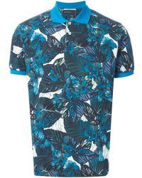 Etro Floral-Print Polo Shirt - Lyst