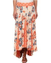 Free People Rayon Gauze Printed Show Off Your Skirt 2 blue - Lyst