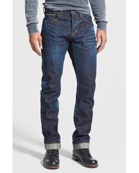 PRPS 'Demon' Slim Straight Leg Selvedge Jeans - Lyst