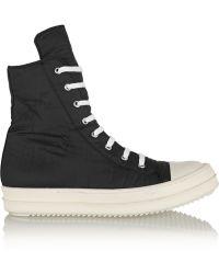 Rick Owens Ramones Coated Canvas Sneakers - Lyst