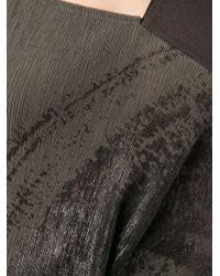 Alessandra Marchi - Patterned Draped Sleeveless Dress - Lyst