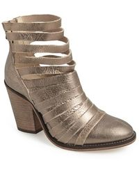 Free People 'Hybrid' Strappy Leather Bootie - Lyst