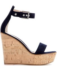 Gianvito Rossi Camdeni Suede Wedge Sandals - Lyst