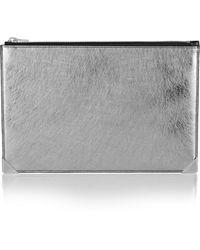 Alexander Wang Prisma Metallic Leather Pouch - Lyst
