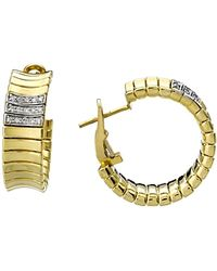 Chimento - 18k Yellow & White Gold Supreme Collection Ridge Arc Hoop Earrings With Diamonds - Lyst