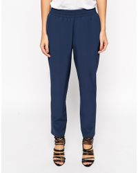 Asos Blue Tailored Jogger - Lyst