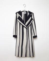 Acne Studios Tria Long Jacquard Coat black - Lyst
