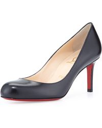 Christian Louboutin Simple Leather Red Sole Pump - Lyst