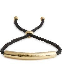 Monica Vinader - Esencia 18Kt Gold-Plated Bracelet - Lyst