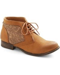 ModCloth A Walk To The Wise Bootie - Lyst