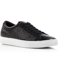 BOSS | Hugo Fulteno Studded Leather Sneakers | Lyst