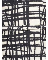 Chictopia - Stroke Print Flare Dress - Lyst