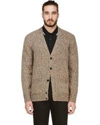 Paul Smith Marled Beige Knit V_neck Cardigan - Lyst