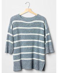 Gap Stripe Oversized Swing Sweater - Lyst