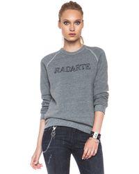 Rodarte Barbed Wire Polyblend Sweatshirt - Lyst