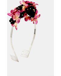 Asos Velvet Flower Hair Crown - Lyst