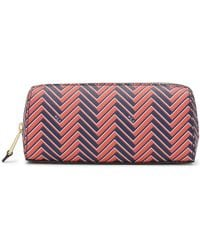 Pink Pony - Chevron Leather Cosmetic Case - Lyst