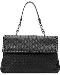 Bottega Veneta Olimpia Medium Shoulder Bag Black - Lyst