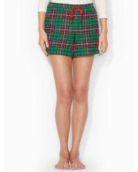 Lauren by Ralph Lauren Plaid Pajama Short - Lyst