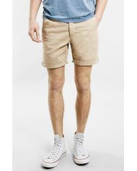 Topman Cuffed Chino Shorts - Lyst