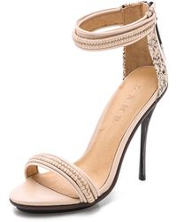 L.a.m.b. Kanye Haircalf Sandals - Vanilla/Rose Nude - Lyst