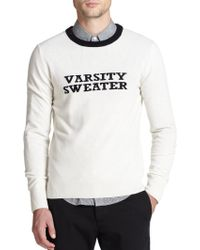 Band of Outsiders Varsity Sweater Wool Pullover - Lyst