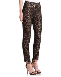 Michael Kors Samantha Laceprint Pants black - Lyst