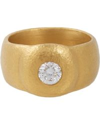 Linda Lee Johnson Diamond  Gold La Passione Ring - Lyst
