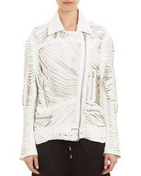 Acne Studios Mason Leather Jacket - Lyst