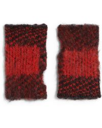 Rag & Bone Cammie Birds Eye Fingerless Mittens - Lyst