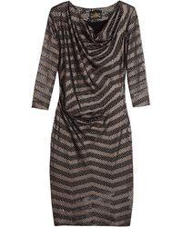 Vivienne Westwood Anglomania Metallic Decoupe Pax Dress - Lyst