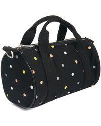 Fred Perry Barrel Bag in Polka Dot - Black