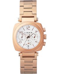 Links of London - Brompton Rose Gold-plated Chronograph Watch - Lyst