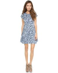 Charles Henry - Floral Dress  Blue Floral - Lyst